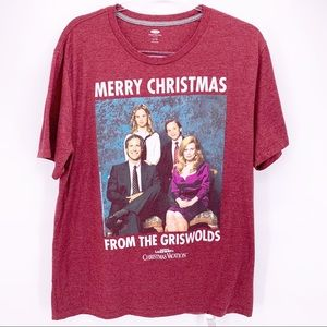 Christmas Vacation Mens Graphic Tee Size XL